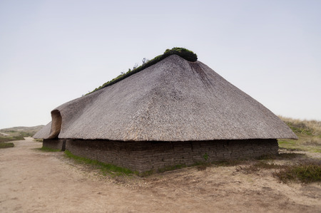 reconstruction: Prehistoric Reconstruction of a Stone Age House on Amrum in Germany