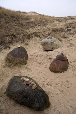 edad de piedra: Edad de Piedra Tumba del sitio en Amrum en Alemania