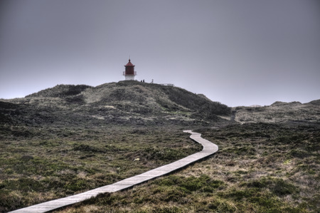 wadden: Lighthouse on North Frisian Island Amrum in Germany