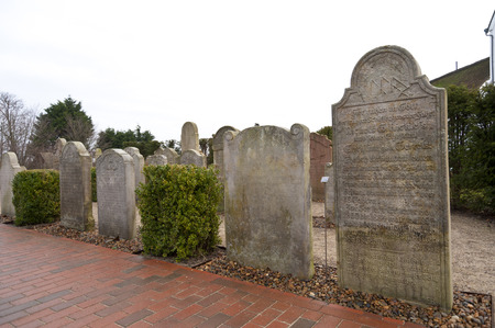 whaling: AMRUM, GERMANY - DECEMBER 31, 2014: In Nebel on the North Frisian Island Amrum in Germany the historic Sailor Tombstones have been restored. They are called speaking Grave Stones