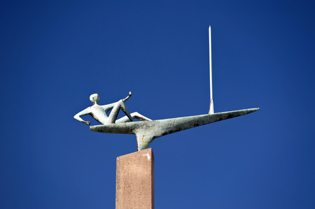 kiel: Sailing Statue in Kiel in Germany