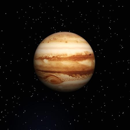 Digital Illustration of Planet Jupiter Archivio Fotografico
