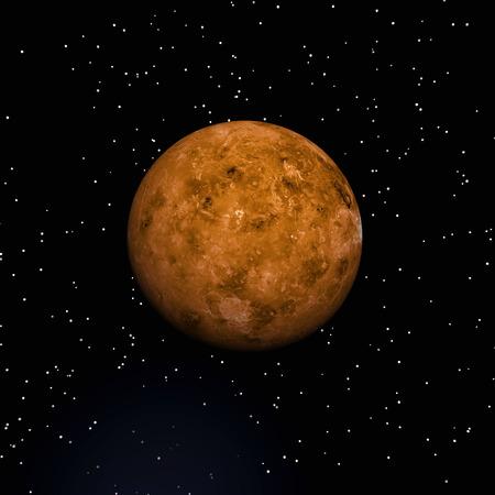 惑星金星のデジタル イラストレーション 写真素材