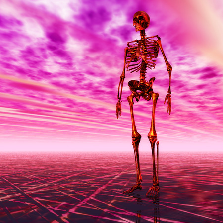 desolate: Digital Illustration of a Skeleton Stock Photo