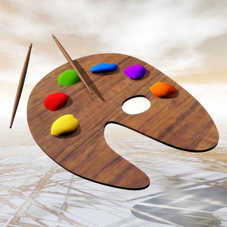 color palette: Digital Illustration of a Color Palette