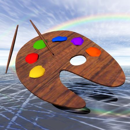 Digital Illustration of a Color Palette