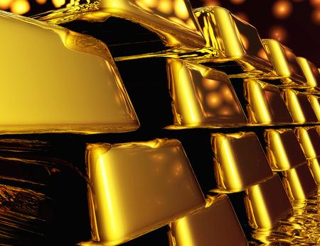Diugital Illustratie van Gold Bullions