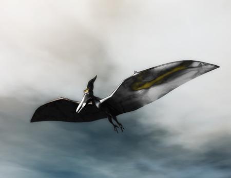 pteranodon: Digital Illustration of a Pteranodon