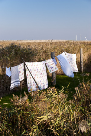 Clothes Line in Ahrenshoop, Germany