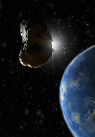utopian: Digital 3D Illustration of a Space Scene