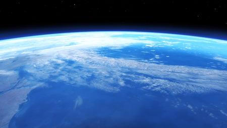 astronautics: Digital 3D Illustration of a Space Scene