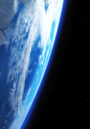 earthlike: Digital 3D Illustration of a Space Scene