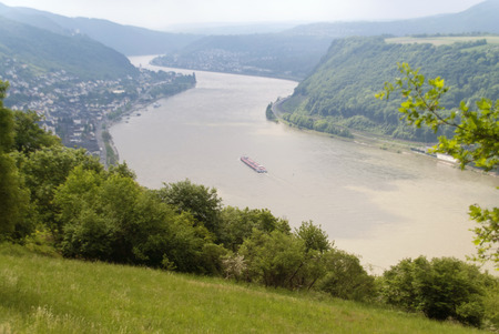 rhine: Boppard at the River Rhine