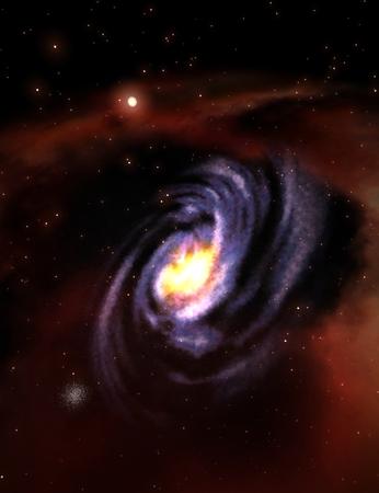 astronautics: Digital 3D Illustration of a Space Scene, no NASA Image