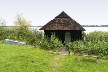 boathouse: Boathouse at the Schaalsee in Germany
