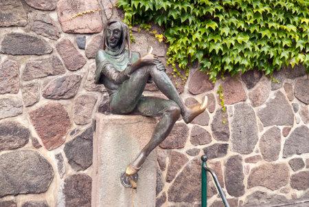 antics: Eulenspiegel Fountain in Mlln, Germany Editorial