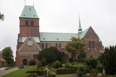 romanesque: Romanesque Cathedral of Ratzeburg, Germany Stock Photo