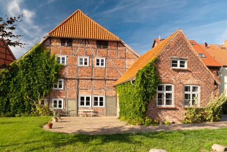 mecklenburg  western pomerania: Deutsches Haus in Rehna, Germany