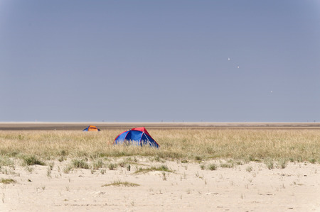 wadden: On the Beach of St. Peter-Ording in Germany