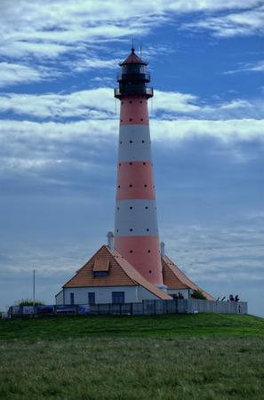 westerheversand lighthouse: Lighthouse Westerheversand in Westerhever, Germany Stock Photo