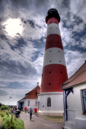westerheversand lighthouse: Lighthouse Westerheversand in Westerhever, Germany Editorial