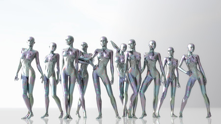 Digital 3D Illustration of Manikins Imagens