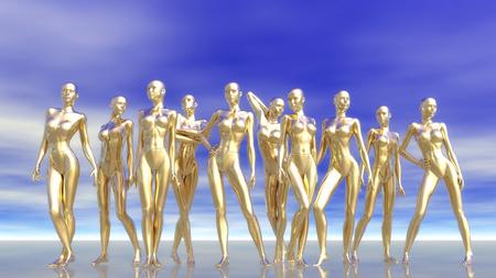 3D numérique Illustration de mannequins Banque d'images - 45157871