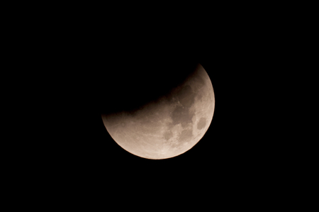 lunar eclipse: Total Lunar Eclipse on Sept. 28, 2015, observed in Kiel, Germany, through a Telescope Editorial