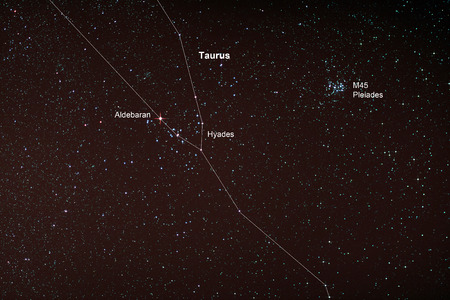 the pleiades: Astro Photo: Starfield with Taurus and Pleiades