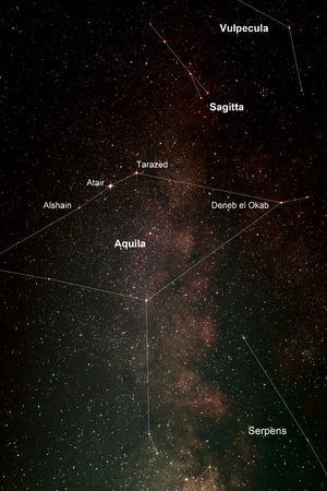 starlight: Nightsky With Aquila and Milky Way