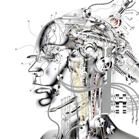 Digitale visualisatie van een Cyborg Stockfoto