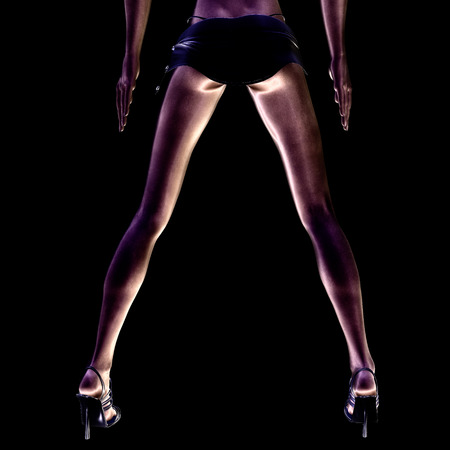 sex appeal: Digital visualization of sexy legs
