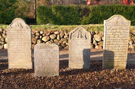 churchyard: Historic Sailor Tombstones on Amrum