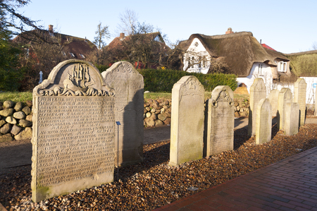 stone of destiny: Historic Sailor Tombstones on Amrum
