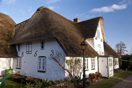 thatched roof: Thatched Roof House on Amrum in Germany