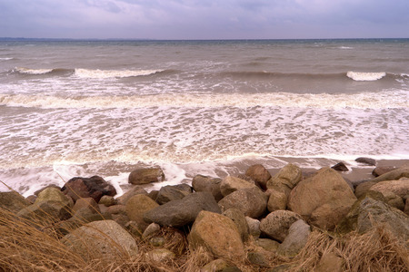 the surge: Surge of the Baltic Sea in Germany