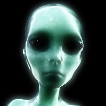3D-Illustration; 3D-Rendering eines Alien Standard-Bild