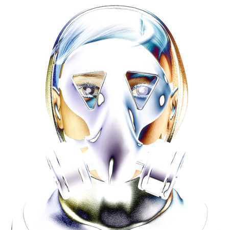 utopia: 3D Illustration, 3D Rendering of a Protection Mask