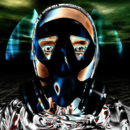 meltdown: 3D Illustration, 3D Rendering of a Protection Mask