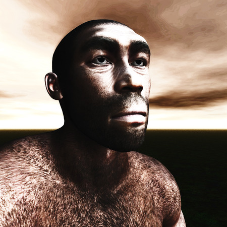 stoneage: 3d Illustration of a Homo Erectus