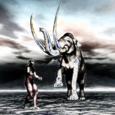 darwin: 3d Illustration of a Homo Erectus