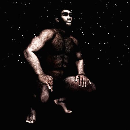 erectus: 3d Illustration of a Homo Erectus