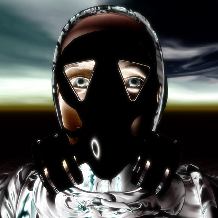 protective gas mask: 3D Illustration, 3D Rendering of a Protection Mask