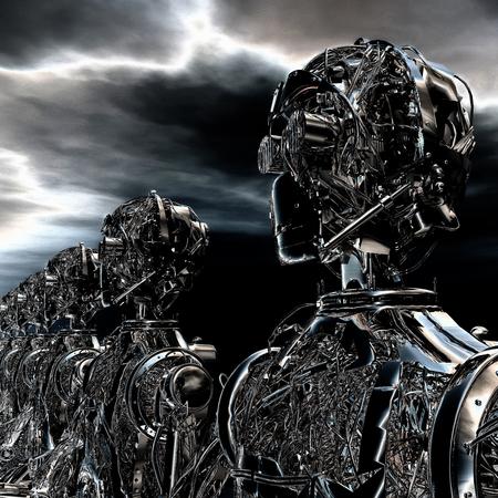 terminator: 3D Illustration of Robots