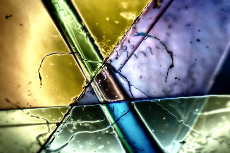 aesthetical: Light Graphics: Microphoto of translucent structures in polarized light