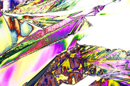aesthetical: Microcrystals of tartaric acid in polarized light