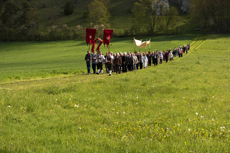 ascension: Ascension Day Procession in Bavaria in Germany Editorial