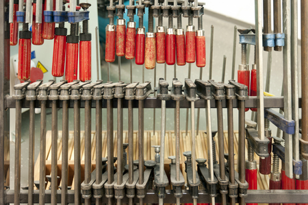 tool cabinet: Tools in a Workshop Stock Photo