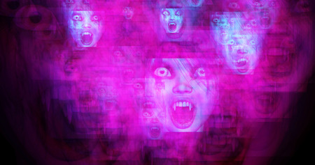 vamp: Computer generated image of surreal vampires