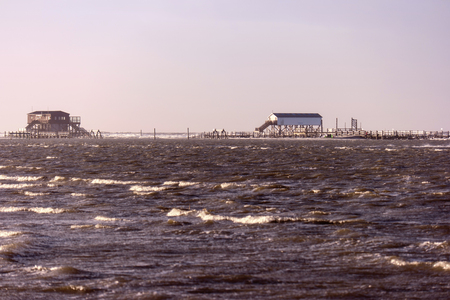 kiter: On the beach of St. Peter-Ording in Germany